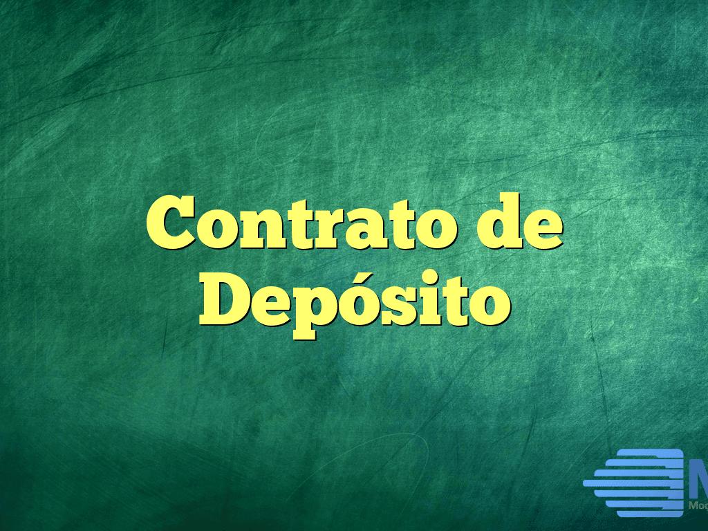 Contrato de Depósito